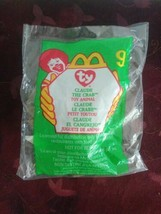 TY Claude the Crab #9 RARE 1993 Tag Beanie Baby McDonald's Happy Meal 1999  - $392.70