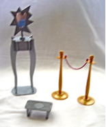 Barbie Silver Star Vanity Mirror Stanchions Tray Dollhouse - $14.99