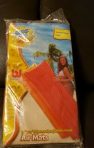 "Surf & Sun Bestway Air Mat Water Floaty 72"" × 27"" Blow Up Orange New In ... - $9.90"