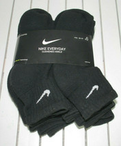 Nike Cushioned Ankle Socks Black Youth Medium M Boys 5Y-7Y Dri-Fit NEW Pkg 6 PR image 1