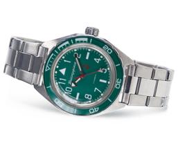 Vostok Komandirskie 650856 /2416 Automatic Russian wrist watch Date Green New  - $79.99