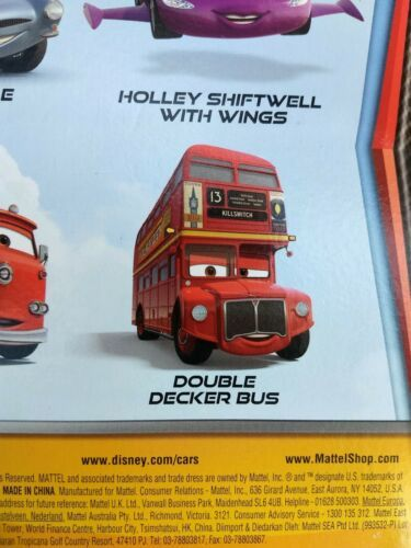 2010 Mattel sealed Disney Cars Pixar Double Decker Deluxe Bus metal toy figure  image 7