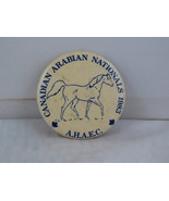 Vintage Horse Pin - Canadian Arabians Nationals 1983 - Celluloid Pin  - $15.00