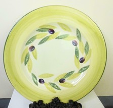 Bizzirri Olive Dinner Plate BiZ9 Hand Painted Made in Italy 10.5 Inch - $13.86