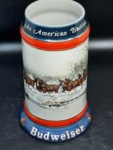 Budweiser Tankard Susan Sampson 1990 Collectors Series excellent conditi... - $11.00