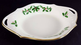 """LENOX China Holiday Dimension 8-1/4"""" Open Candy/Nut Dish Handled Bowl Dinnerware image 2"""