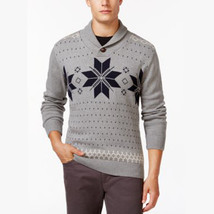 Weatherproof NEW Men's SMALL Cotton Fair Isle Shawl Collar Pullover Swea... - $18.76