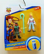 "FisherPrice Disney Pixar Toy Story 4 Imaginext Combat Carl & Bo Peep 3"" ... - $11.63"