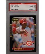 ERIC DAVIS 1987 Leaf #179 PSA 10 GEM MT (POP 9) Rare - Cincinnati Reds B... - $74.25