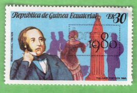 Republica De Guinea Ecuatorial 30 Multicoloured Sir Rowland Hill 1980 - $1.99