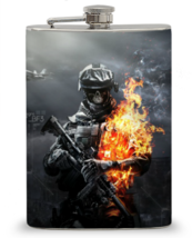 12 oz Battlefield Soldier Flask - $16.84
