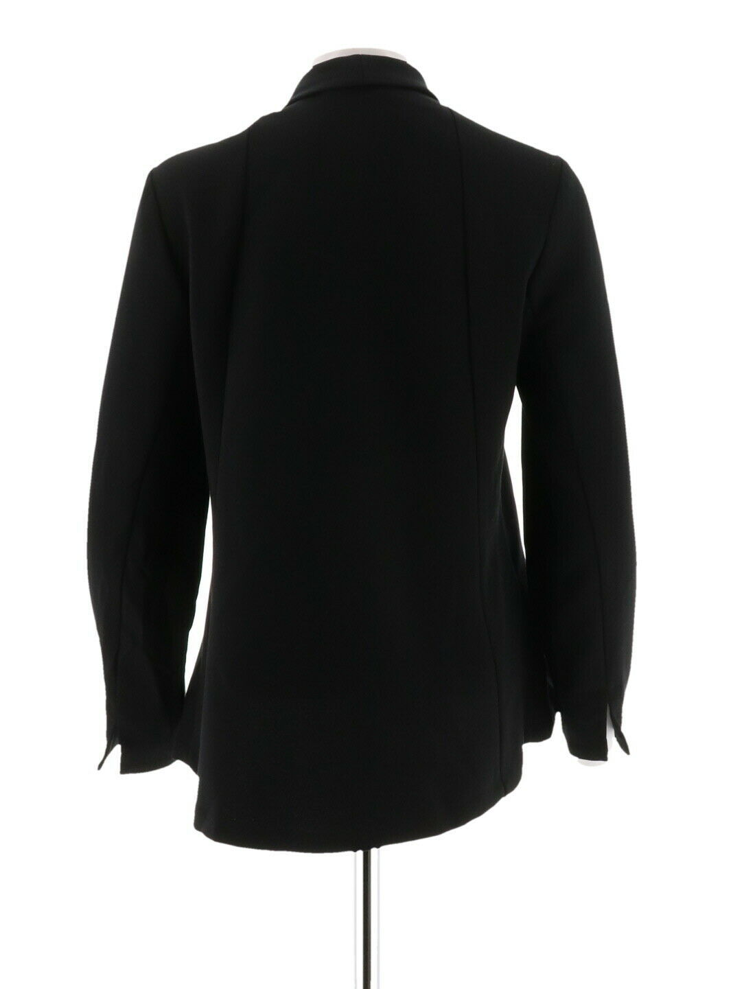 H Halston Long Slv Open Front Jacket Seam Black 12 NEW A303200 image 3