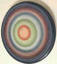 Tabletops Colormate Rotunda Multi-Color Swirl Circles Ceramic Salad Plat... - $8.90