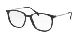 Prada Squared Gafas PS03IV DG01O1 52MM Montura Negra Demo Personalizable Lente - $118.80