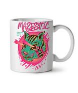 Shooting Laser Cool Cat NEW White Tea Coffee Mug 11 oz | Wellcoda - $15.99