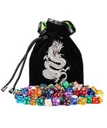 Rogues & Knaves 18 Complete DND Dice Sets 126 Polyhedral Dice! with Plat... - $50.34