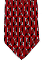 Vicky Davis Gemini Mens 100% Silk Necktie Astrology Red Dress Neck Tie New - $19.75