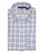 Tommy Hilfiger Men's Regular-Fit Non-Iron Plaid Dress Shirt-(16-1/29(32-33) - £17.98 GBP