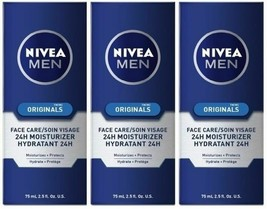 3 x Nivea Men Originals Face Care 24H Moisturizer - $21.99