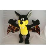 "Bat Plush Toy black and yellow Vampire bat 10"" tall 13"" wing span by BJ ... - $9.89"