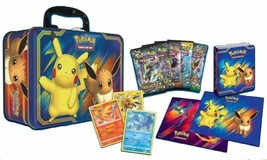 Pokemon TCG Pikachu & Eevee 2018 Fall Collector Chest Lunch Box 5 Booste... - $28.99