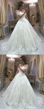 Elegant White Lace Pricess Wedding Dress Sweet Ball Gown Wedding Gowns A... - $195.85
