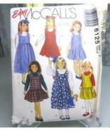 Vintage 1992 McCall's 6125 Girls Pullover Jumper Dress  Easy Sew Pattern... - $8.00