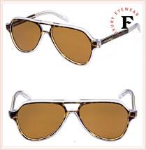 DOLCE & GABBANA ANGEL DG 4355 Crystal Havana Brown Aviator Sunglasses DG... - $236.61