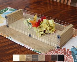 Wood Box Tray, Farmhouse Style Tray Centerpiece - $45.00