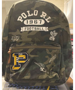 New Polo Ralph Lauren Men's Patchwork Camouflage Canvas Backpack Football - $225.00