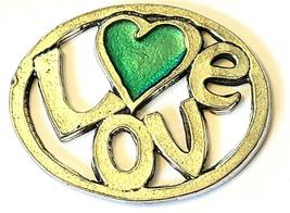 LOVE Fine Pewter Pendant Approx. 1-1/2 inches wide image 5