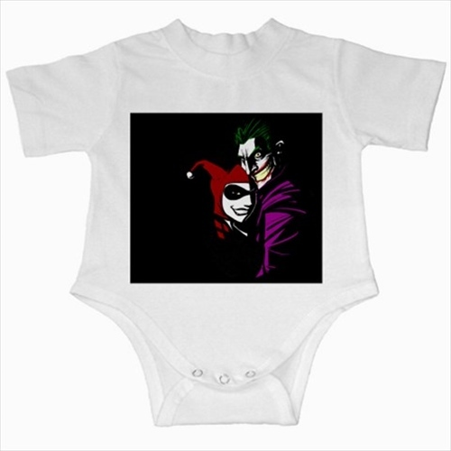 Primary image for Joker ha ha villain comic infants baby creeper bodysuit romper newborn jumpsuit