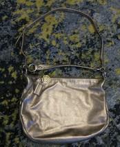 RARE Coach Bag - Ali Large - Metallic Gold Leather Satchel Messenger Cro... - $194.04