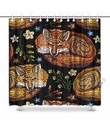 InterestPrint Red Fox Sleeping in Flowers Hippie Animal Waterproof Fabri... - $36.62