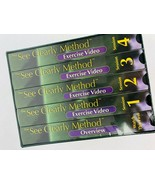 See Clearly Method Vision Improvement Boxed Set 5 VHS Tapes Exercise Eye... - $34.64
