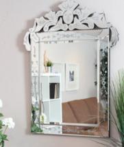 New Venetian Shabby Etched Engraved Chic Wall Mirror Vanity Bathroom Hall Foyer - $196.89
