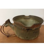Ridker Handcrafted Thrown Stoneware Studio Pottery Large Double Spout So... - $63.99