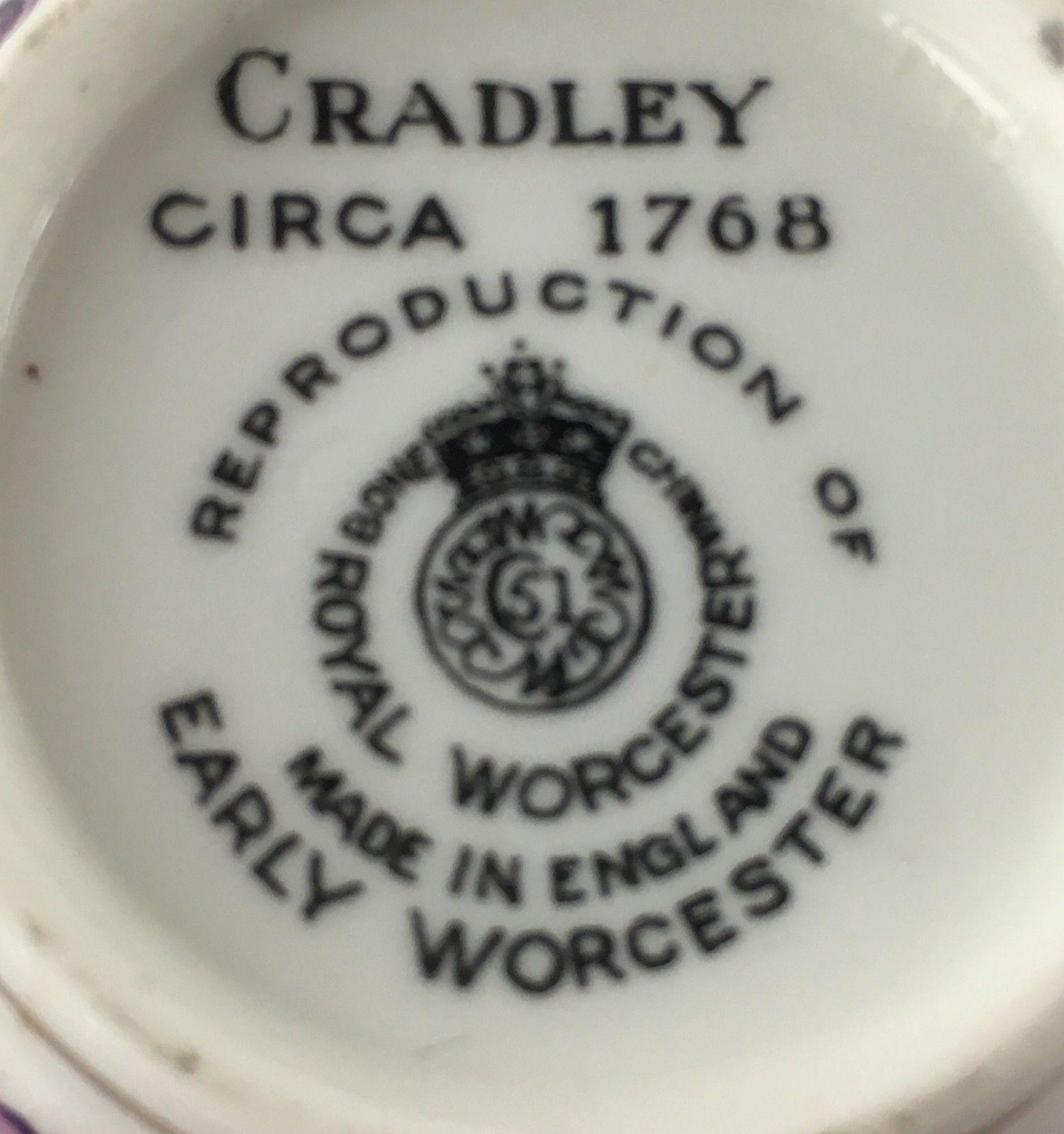 Royal Worcester Cradley set of 12 demitasse cups & 11 saucers