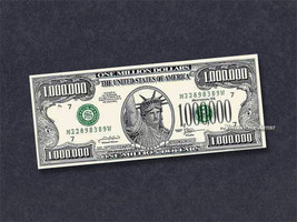 One Million Dollar Bill - Become a Millionaire Now! Same size as Real Money - $0.99