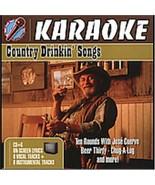 Country Drinkin' Songs Karaoke CD+G 8 Tracks COMPLETE in Case RARE OOP D... - $11.11