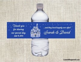 Princess Castle Wedding Shower Birthday Party Favors Water Bottle Labels... - $3.96+