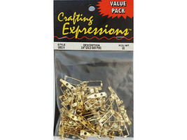 """Crafting Expressions Value Pack Gold 3/4"""" Bar Pins #5862/4"""