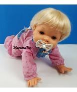 Vintage Oopsie Daisy Crawling Talking Baby Girl Doll Blue Eyes 1988 by I... - $27.75