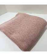 "1 & 5/8 yards Pink Grey Ribbed Knit Fabric 2-Way Stretch 48"" - $19.34"