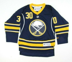 Reebok Ryan Miller Buffalo Sabres NHL Hockey Jersey Youth S/M Blue Yellow - $13.81