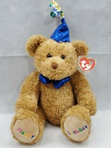 Ty Beanie Baby Buddies Collection  Happy Birthday Bear Blue Hat 2006 (L) - $10.00
