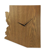 Arizona State Shaped Wood Grain Wall Clock Collection - $19.99