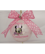 Baby's First Christmas ornament, 4'' Glass Ornament, Personalized girl o... - $20.00