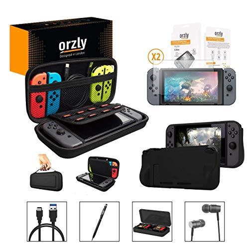 Primary image for Orzly Switch Accessories Bundle, Black Orzly Carry Case for Nintendo Switch Cons