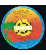 Joe Cocker Jennifer Warnes Up Where We Belong 45 rpm Sweet Lil Woman Can... - $3.79